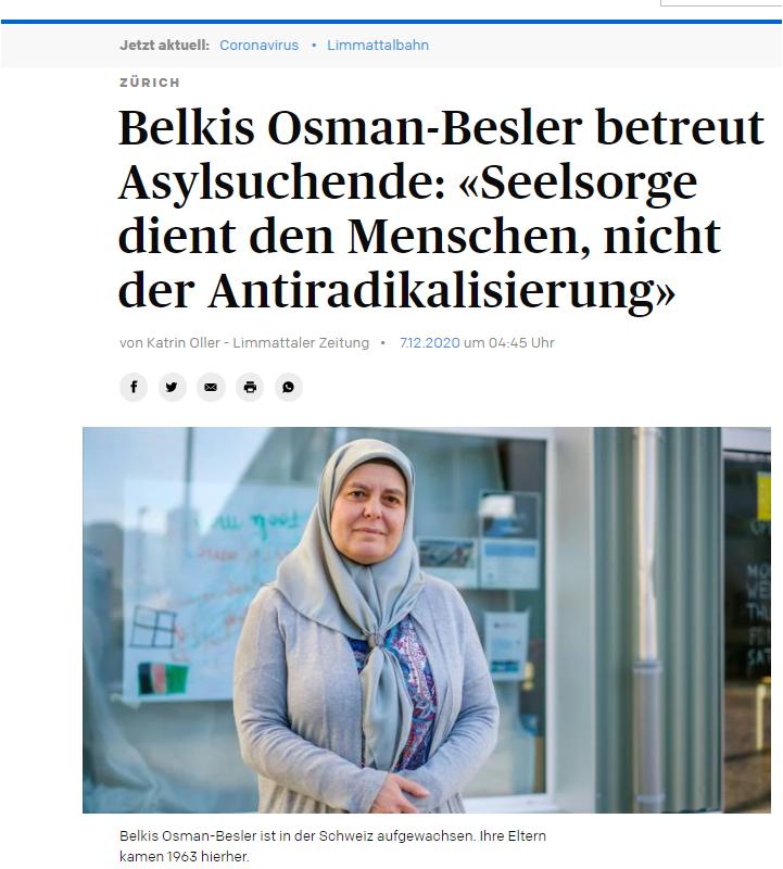 Belkis Osman-Besler betreut Asylsuchende: «Seelsorge dient den Menschen, nicht der Antiradikalisierung»